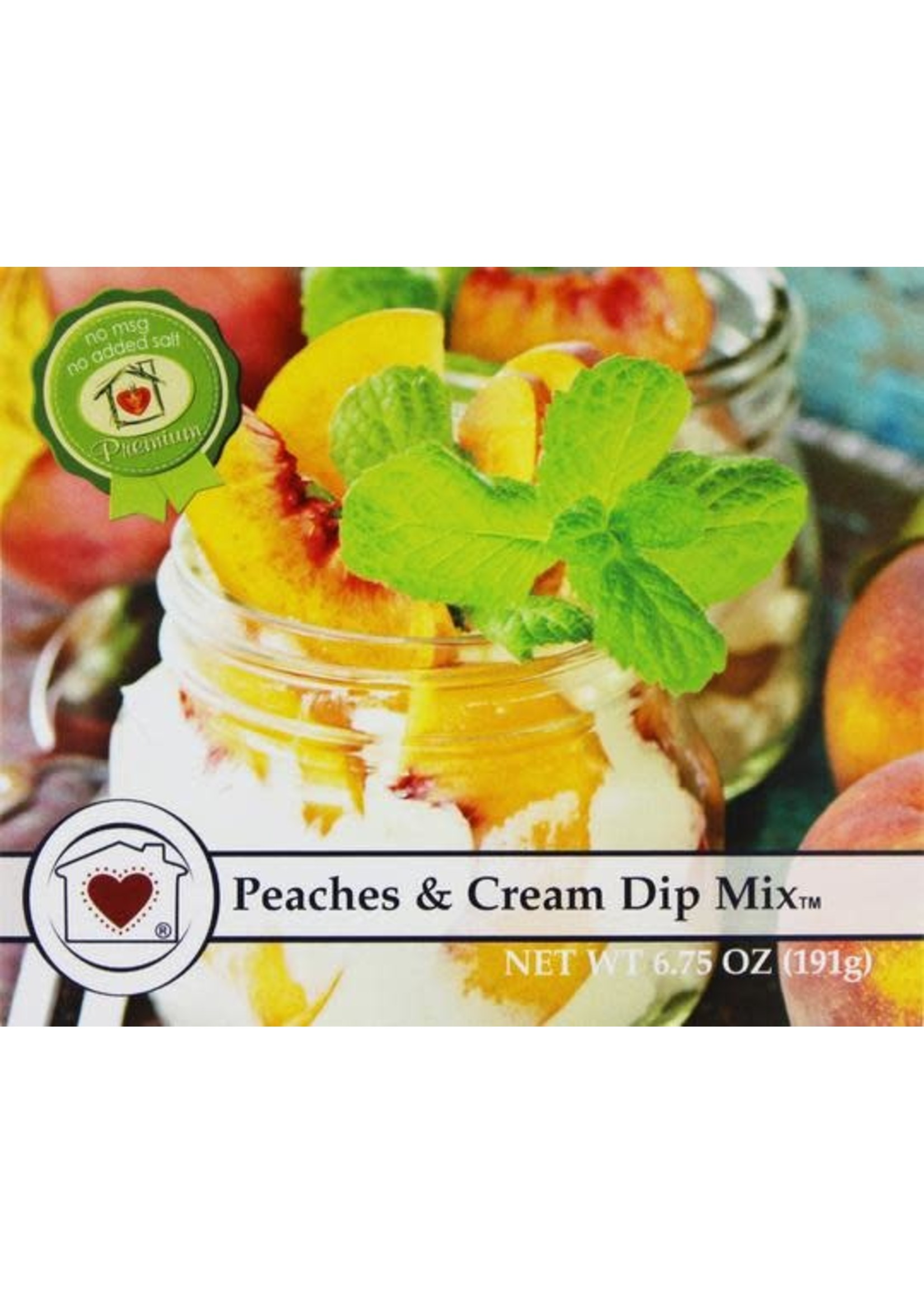 Country Home Creations Peaches and Cream Dip Mix