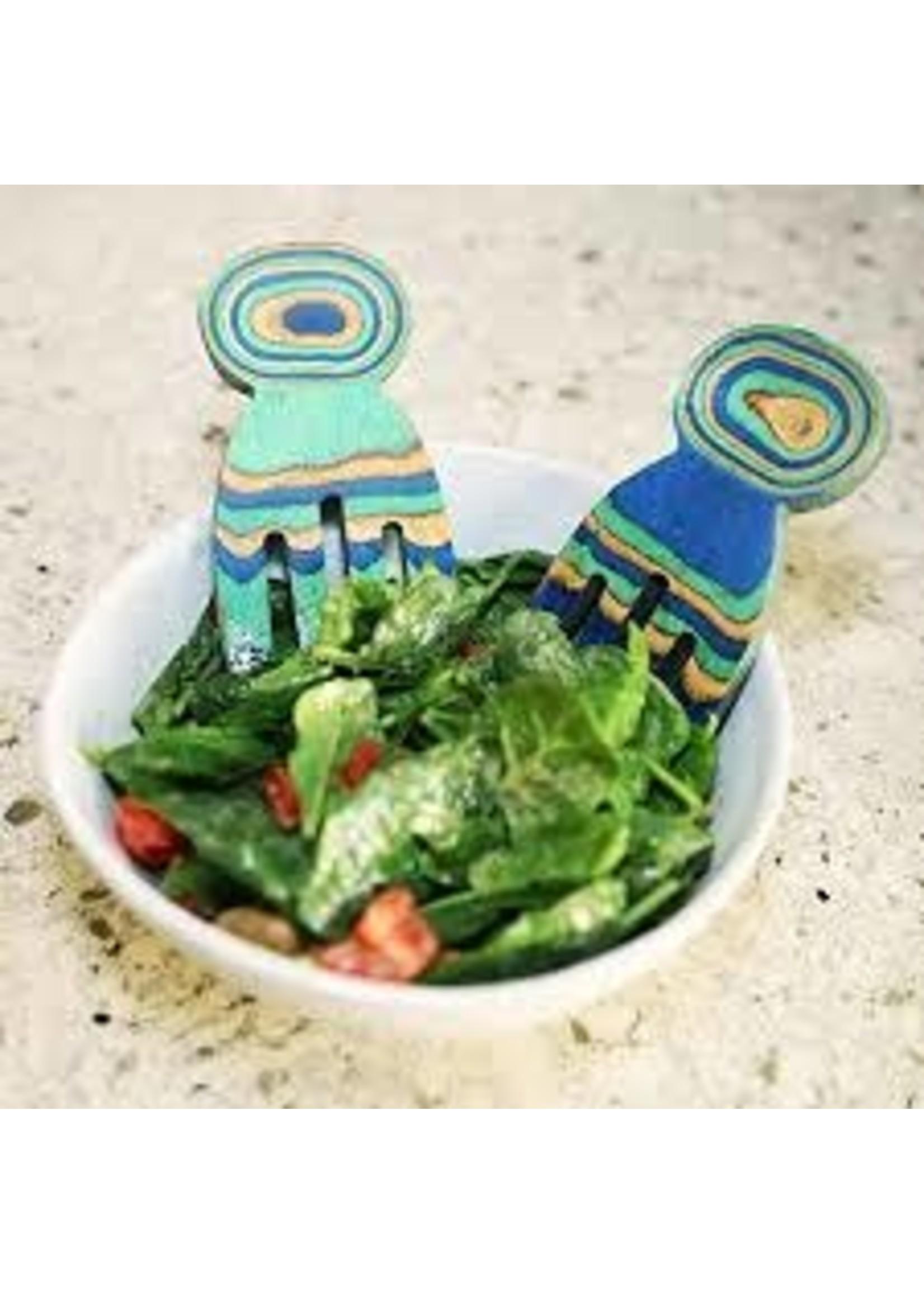 Island Bamboo Wood Salad Hands