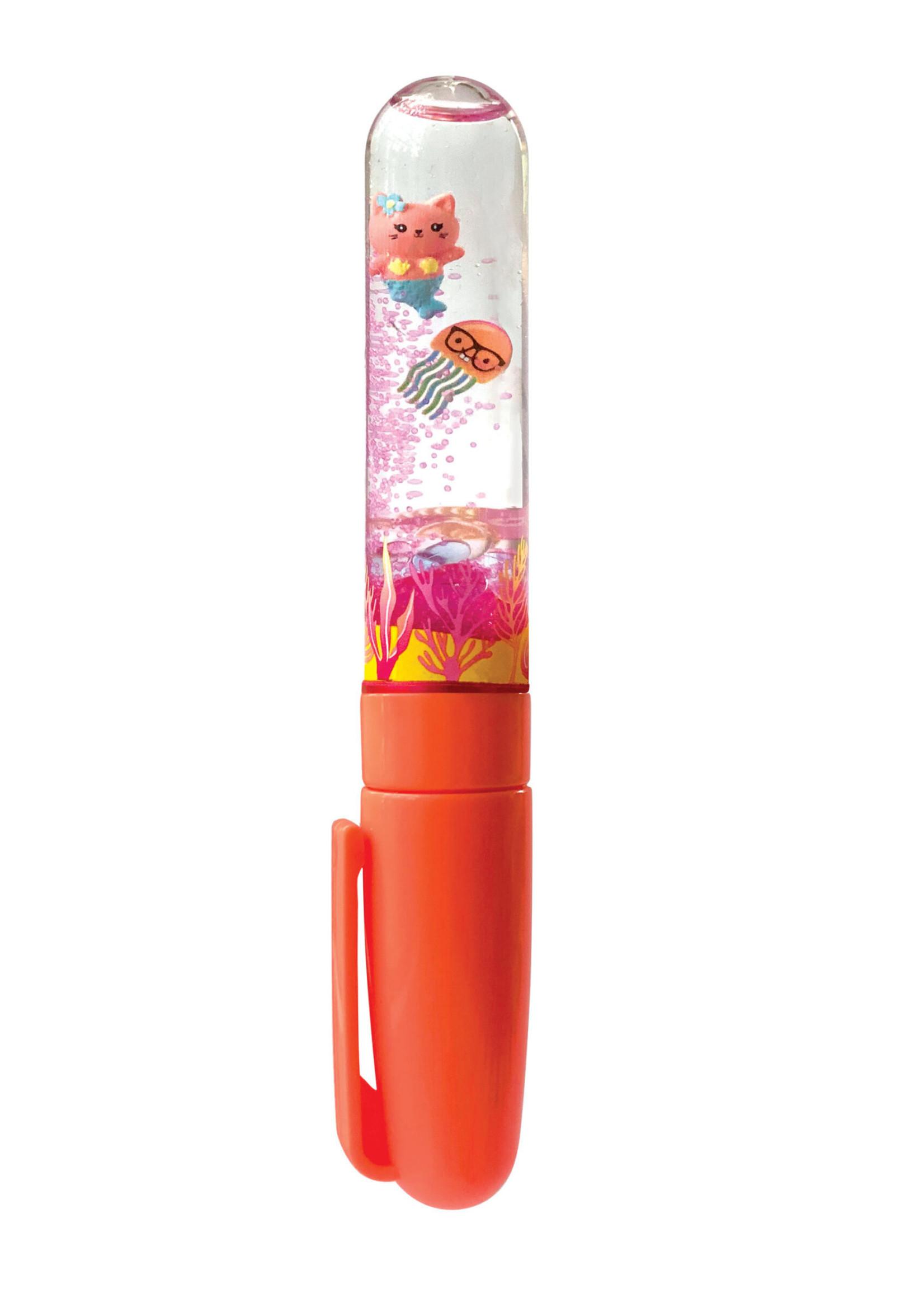 Bright Stripes Swirly World Liquid Glitter Pen