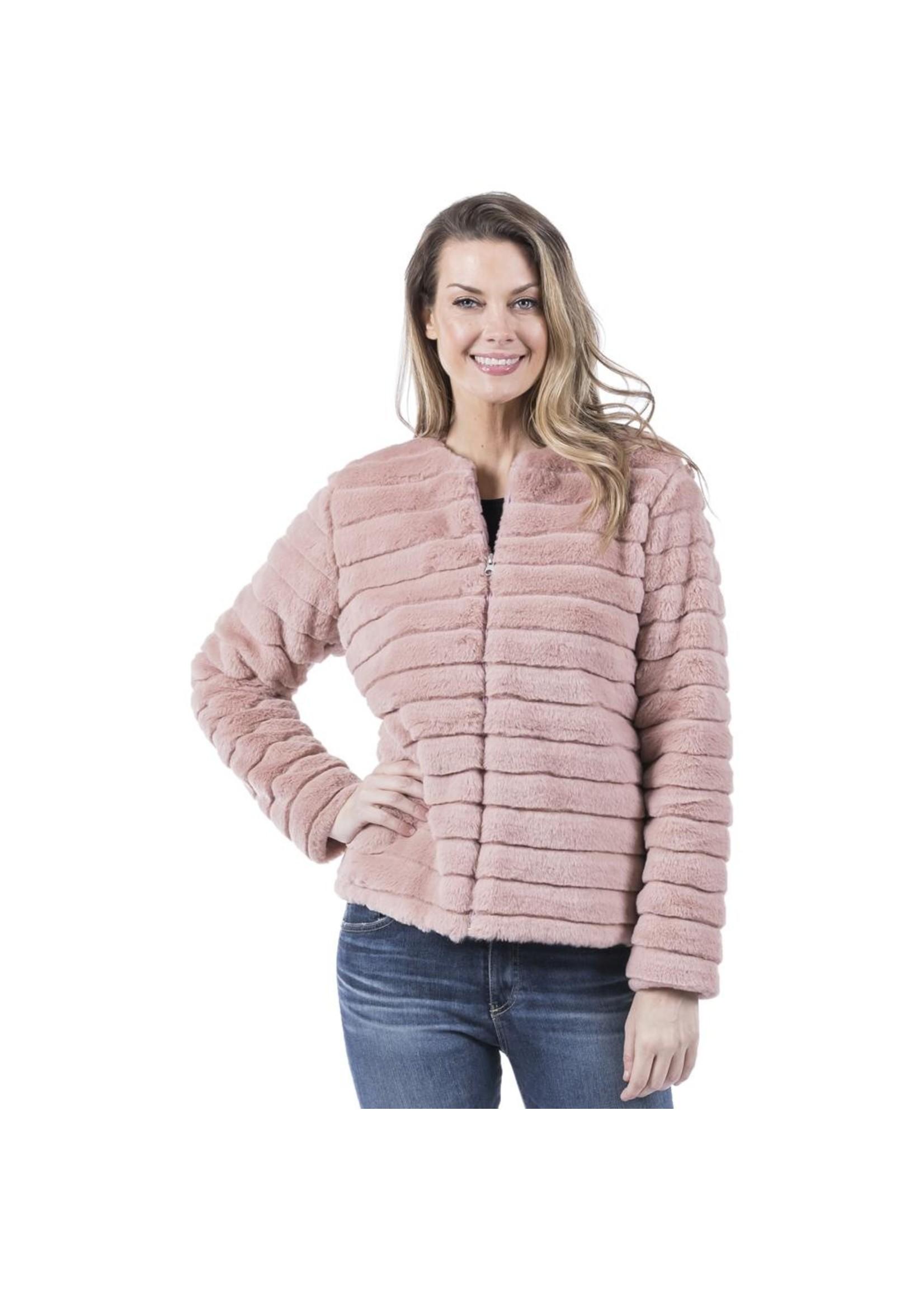 Katydid Faux Rabbit Fur Jacket