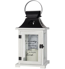 Carson Home Accents Lantern with Picture Frame - In Memory Of