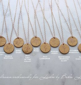 laalee Designs Birth Flower Necklace
