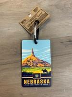 M&W Design Co Nebraska Wood Luggage Tag