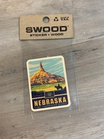 M&W Design Co Nebraska Swood Wood Sticker