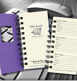 Journals Unlimited Mini - Online Accounts, My Password Journal - Purple