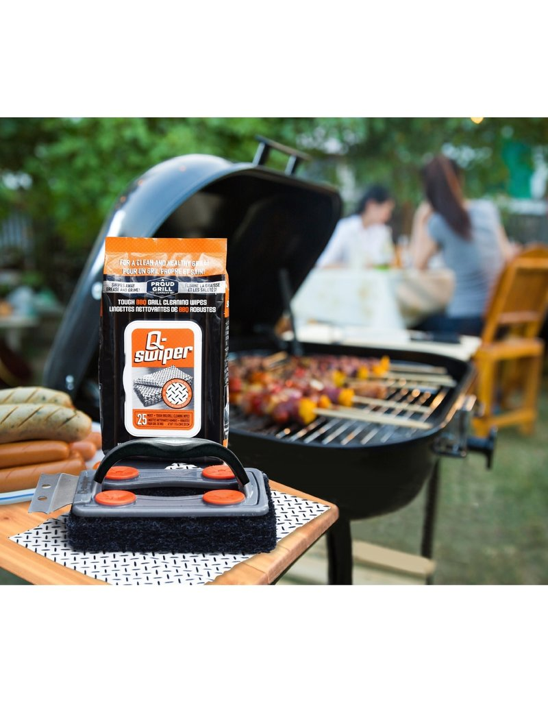 Proud Grill Q-Swiper BBQ Grill Cleaner Set