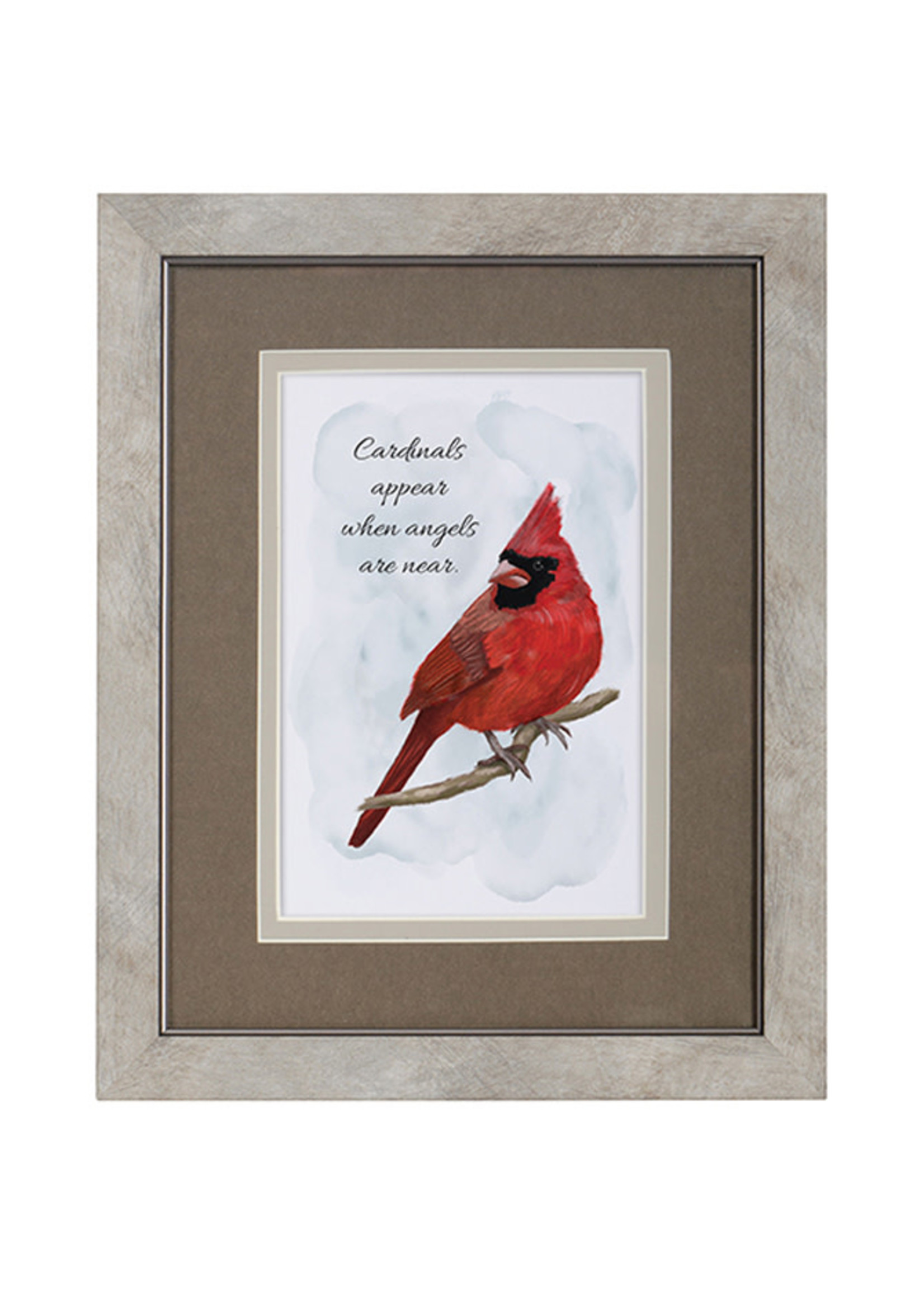 """Carson Home Accents """"Cardinals Appear"""" Framed Blessing"""