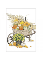 Mary Lake Thompson Pumpkin Wheelbarrow Bagged Towel