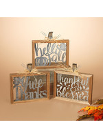 Gerson Companies Hello Fall Wood & Metal Harvest Sign