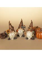 "Gerson Companies 6.1"" Resin Harvest Gnome Figurine, Asst"