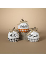Gerson Companies Thankful Resin Harvest Pumpkin with Bow