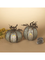 Gerson Companies Lighted Metal Harvest Pumpkin w/LED Candle