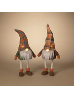 Gerson Companies Lighted Fabric Harvest Bobble Gnome, Asst