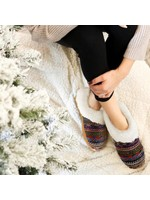 Fashion by Mirabeau Multi-Color Giving Soul Slippers with Sherpa
