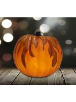 """9.125"""" Flickering LED Flame Jack O'Lantern"""