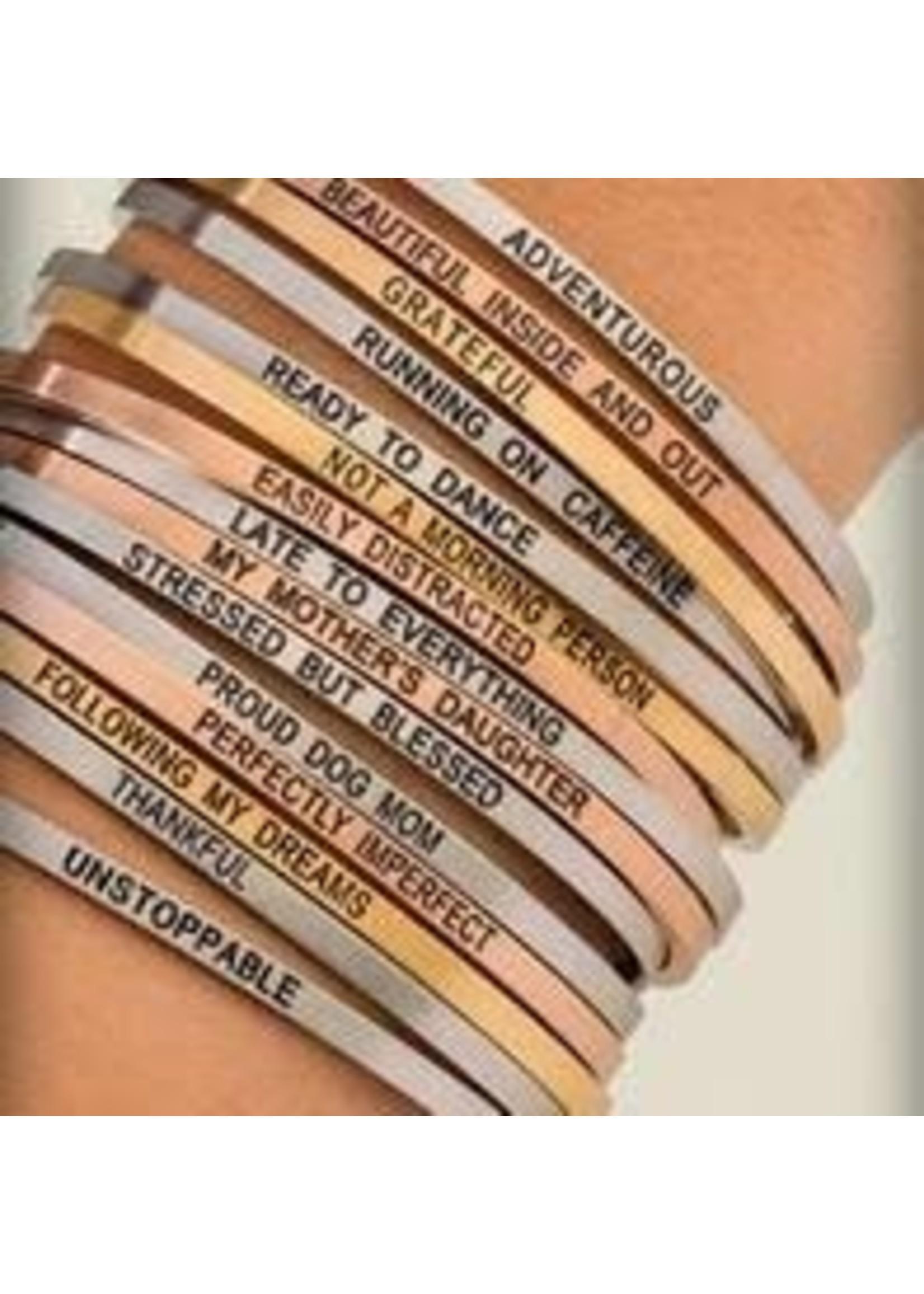 """Embracelets """"Dream. Believe. Achieve."""" Embracelet Rose Gold"""
