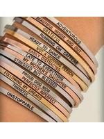 """Embracelets """"Think Pink"""" Embracelet Silver"""