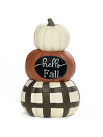 "Blossom Bucket ""Hello Fall"" Stacked Pumpkins"