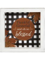 """Blossom Bucket """"Thankful Grateful and oh so blessed"""" Shadow Box"""