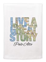 Mariasch Studios Live a Great Story Omaha, Nebraska Flour Sack Towel
