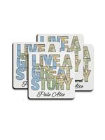 Mariasch Studios Live A Great Story Omaha, Nebraska Rubber Coasters