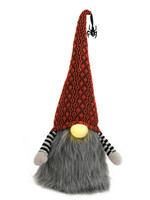 """15"""" Plush Halloween Gnome with LED Nose"""