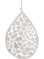 Rain Jewelry Silver Leaf Pattern Teardrop Earring
