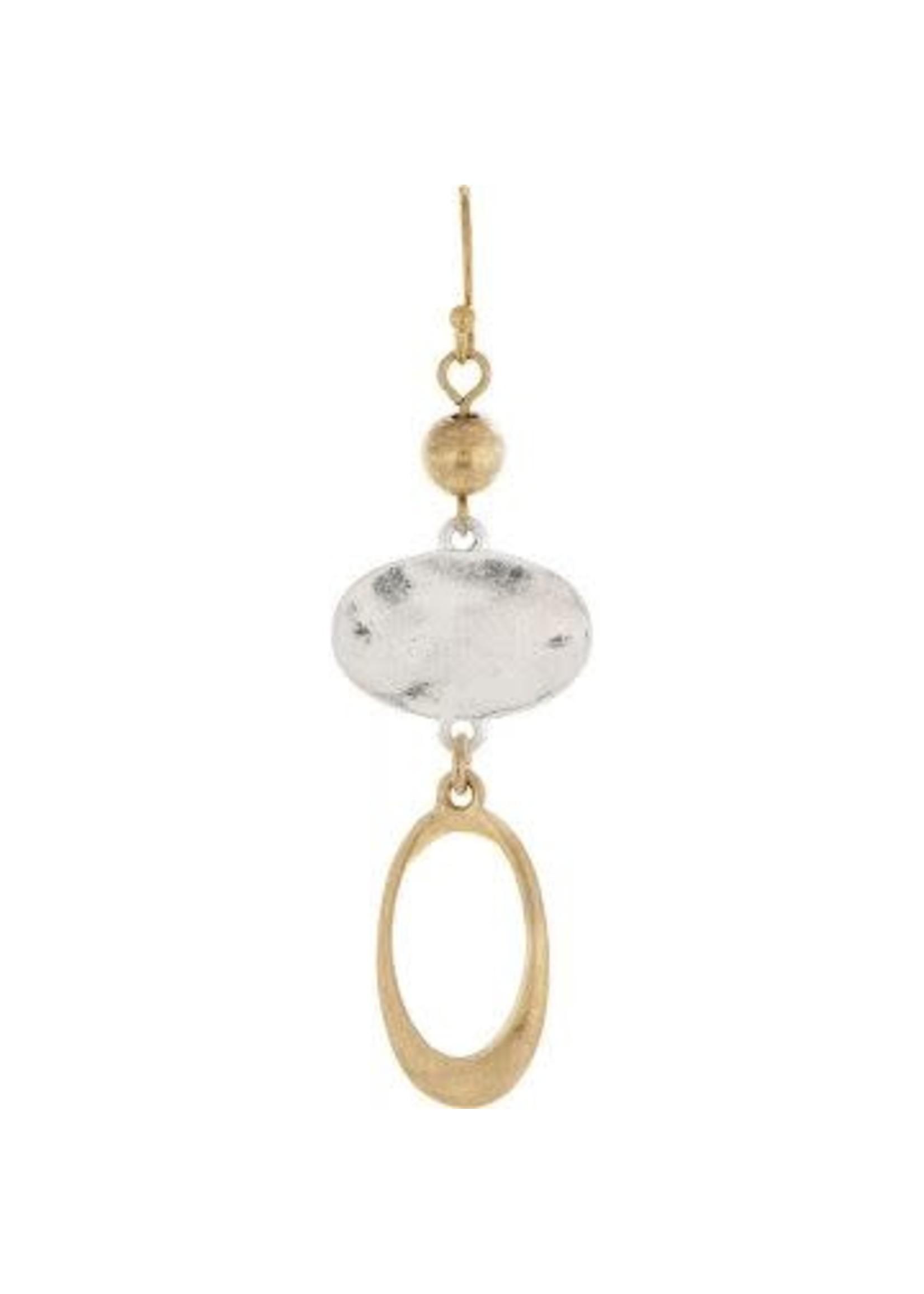 Rain Jewelry Two Tone Oval Open Oval Earring