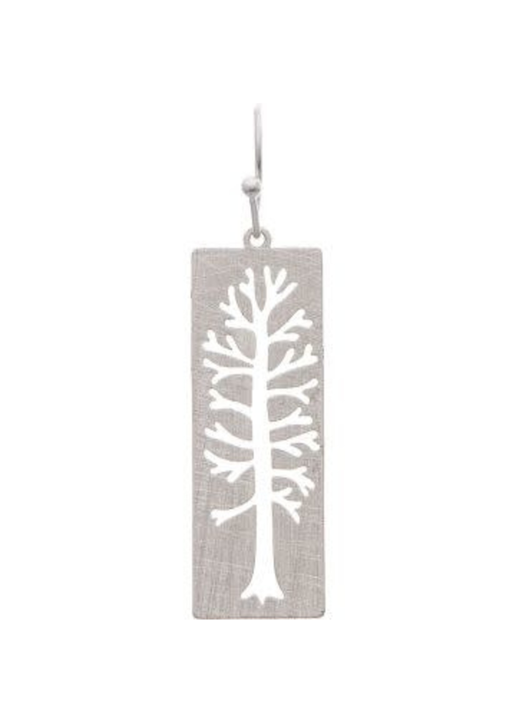 Rain Jewelry Silver Tall Tree Cutout Earring