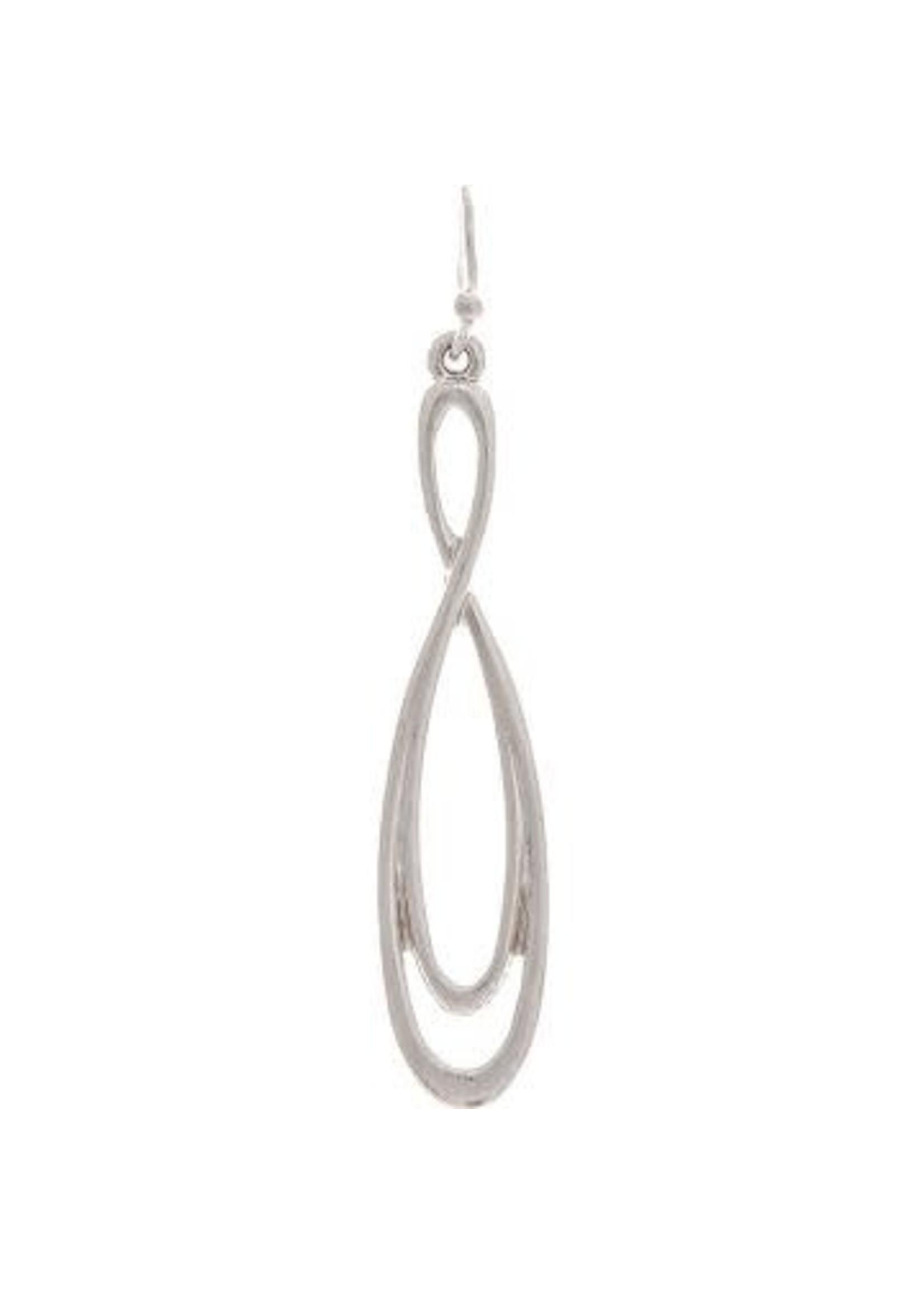 Rain Jewelry Silvery Infinity Twist Earring