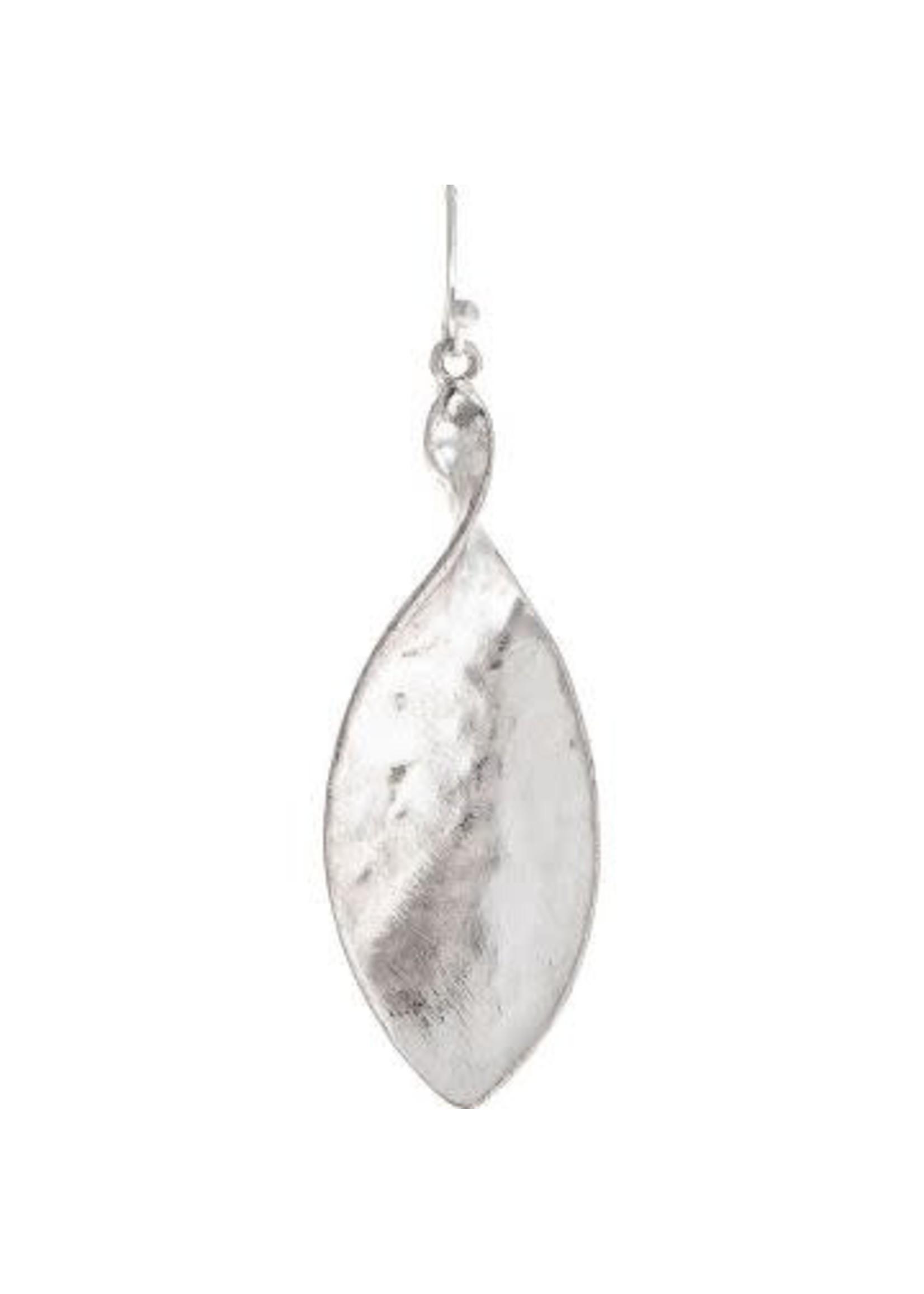 Rain Jewelry Silver Twisted Ellipse Earring