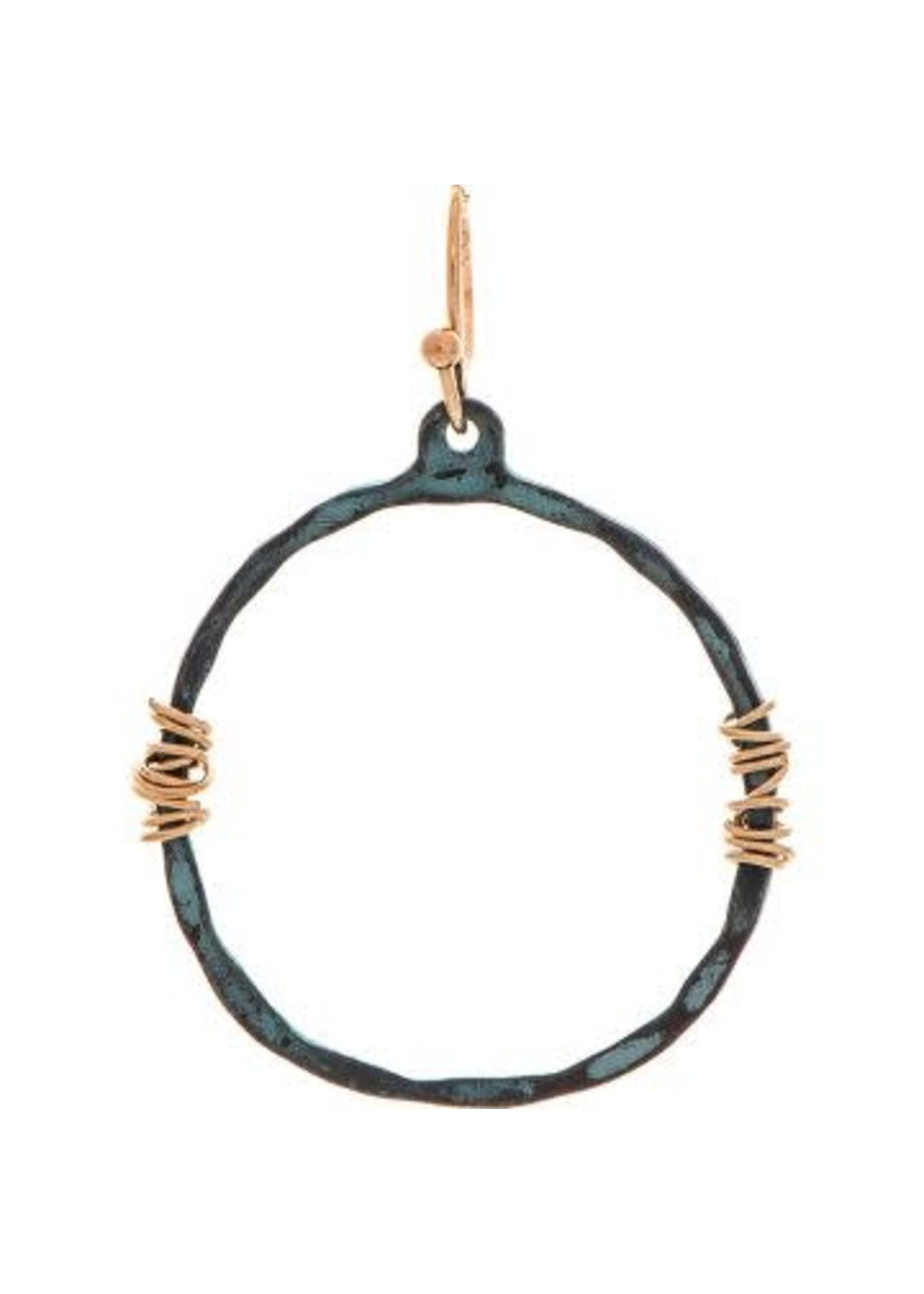 Rain Jewelry Patina Wire Wrap Ring Earring
