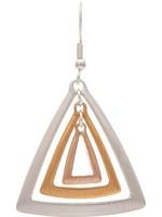 Rain Jewelry Multi Triple Triangle Earring
