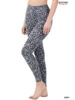 Zenana Microfiber Leopard Print Leggings