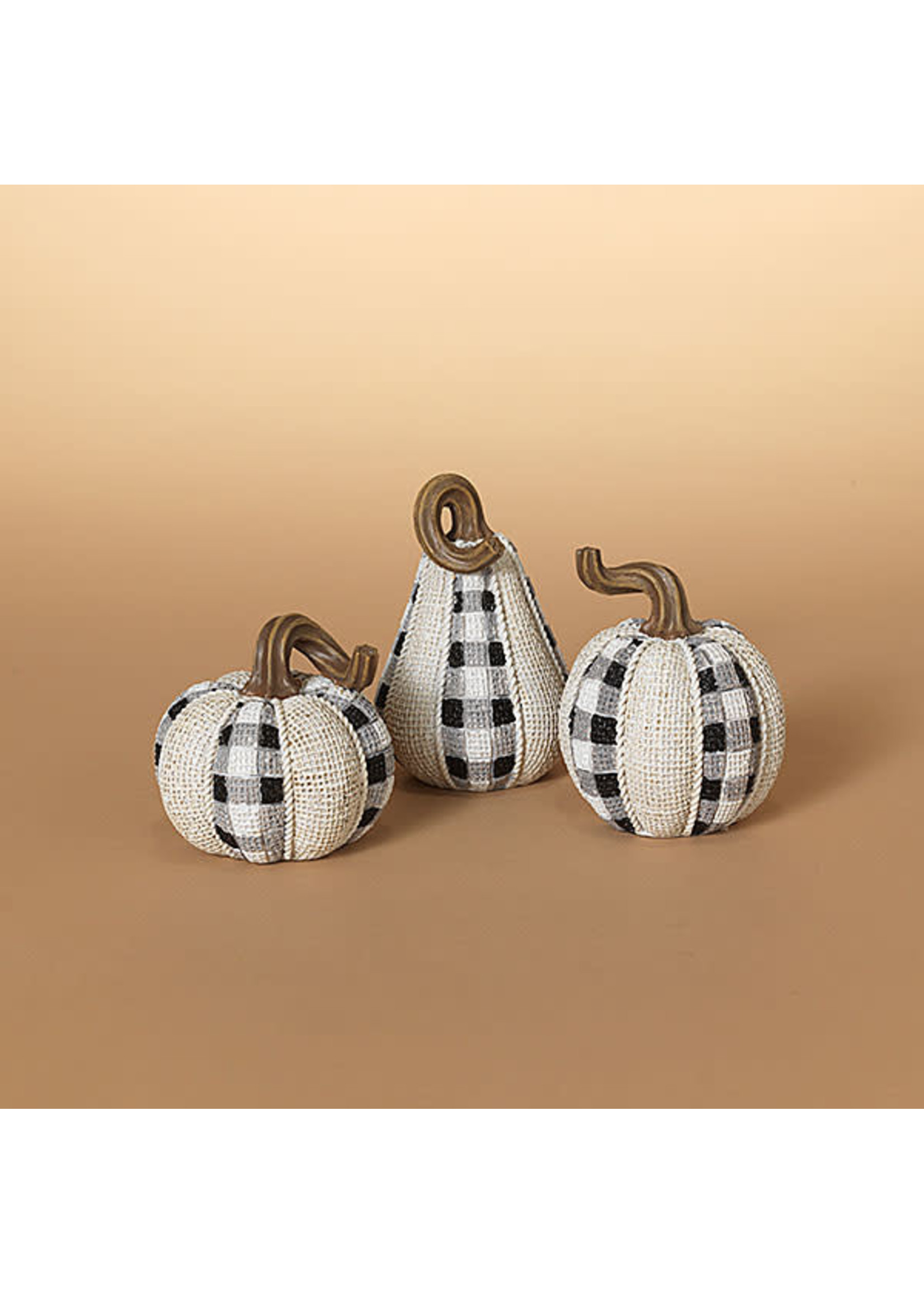 Gerson Companies Fabric Looking Harvest Pumpkin