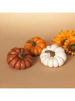 "Gerson Companies 5.3"" H Resin Harvest Pumpkin"