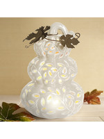 """Opportunities 8.75"""" LED Ceramic Stacked Pumpkins"""