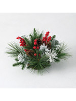 Frosted Pine Berry Half Orb