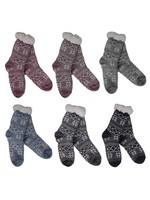 Fashion by Mirabeau Fair Isle Snowflake Thermal Slipper Socks