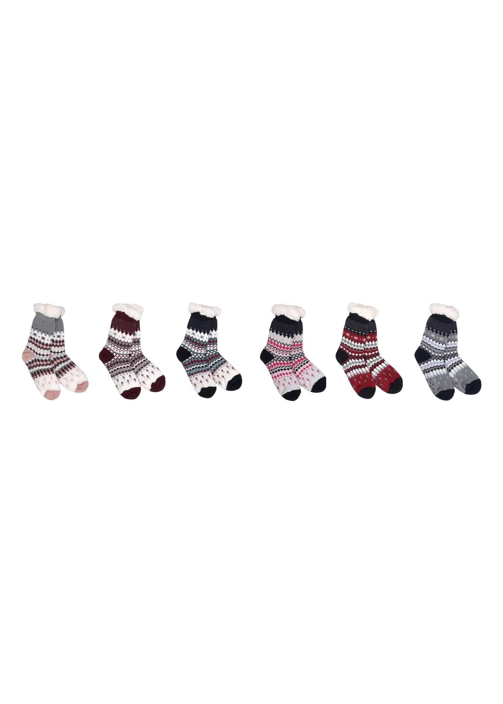 Fashion by Mirabeau Swiss Alpine Thermal Slipper Socks, Asst