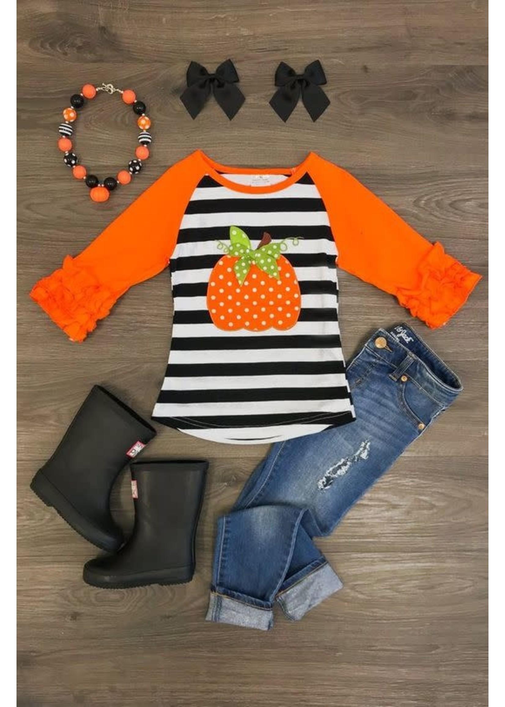 Orange Pumpkin Raglan Shirt