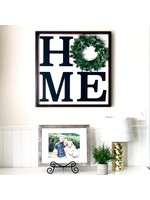 Foundations Decor Home Board with Wreath