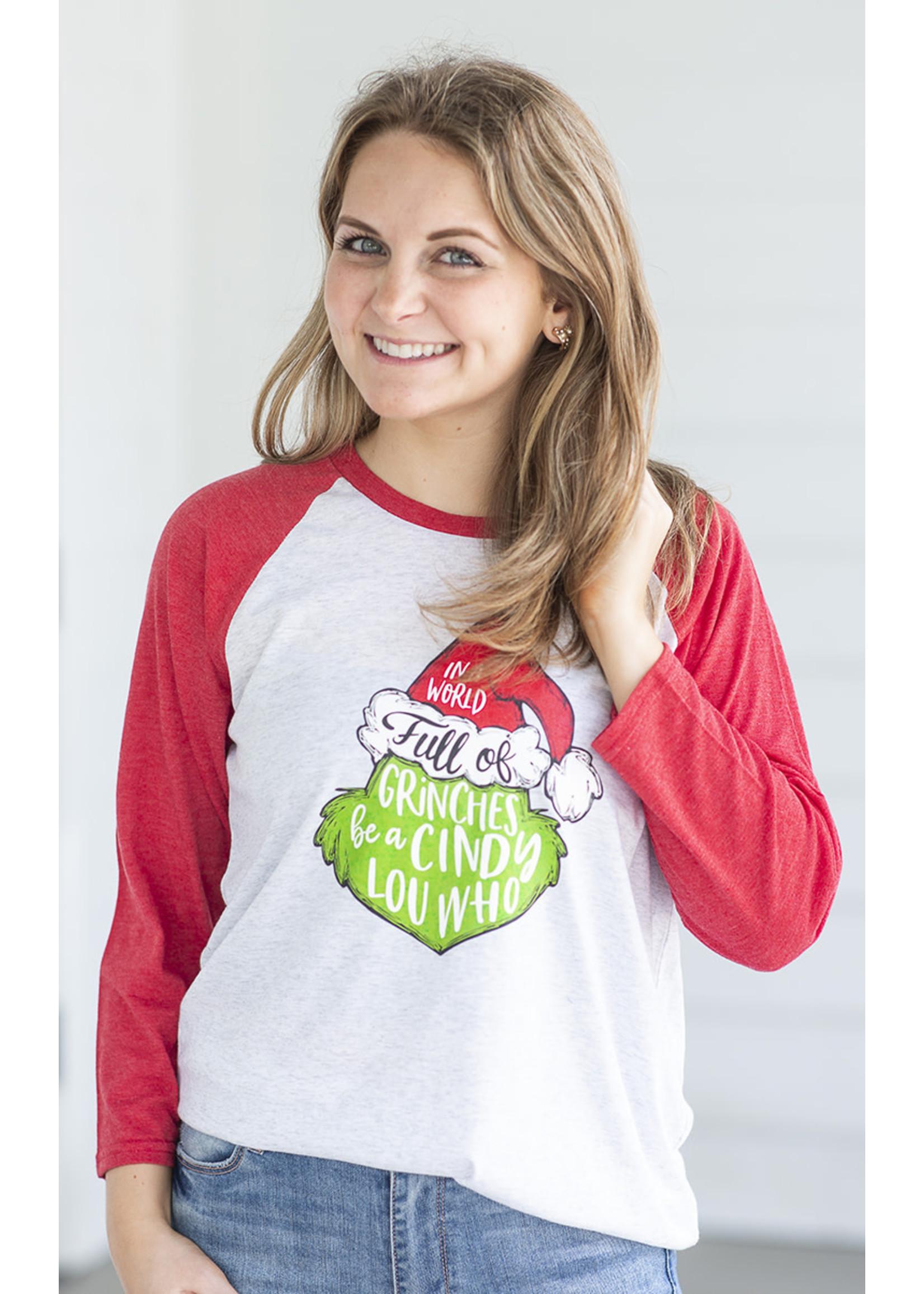 Jane Marie Grinch 3/4 Sleeve T-Shirt