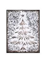 Regency International 16x13 Metal Christmas Tree Wall Piece