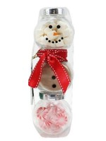 Too Good Gourmet Holiday Snowman Jar Cocoa Set Red Scarf