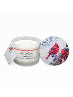 At Home by Mirabeau 12 oz Cardinal Soy Candle with Essential Oils