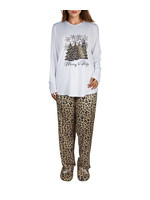 Fashion by Mirabeau Merry & Bright Leopard Print Long Sleeve PJ Set