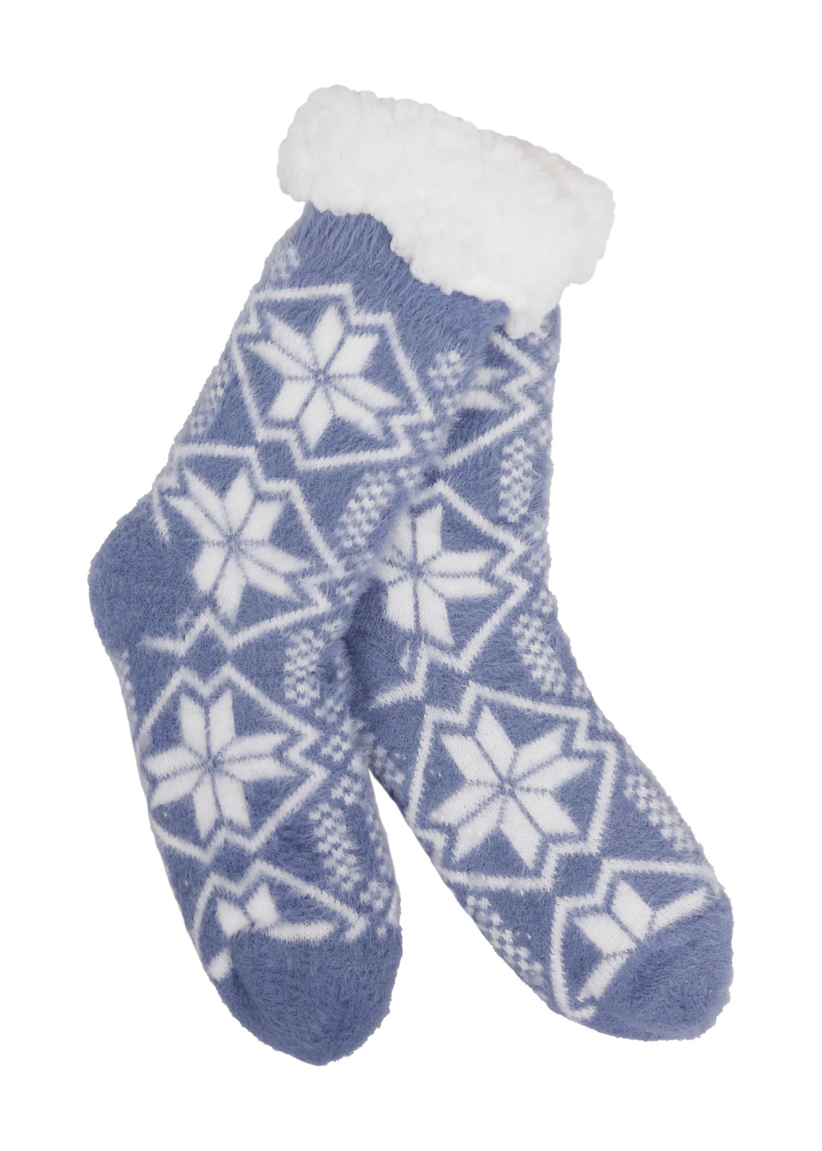 Fashion by Mirabeau Story Snowflakes Thermal Slipper Socks