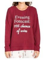 Fashion by Mirabeau Wine Long Sleeve PJ Set