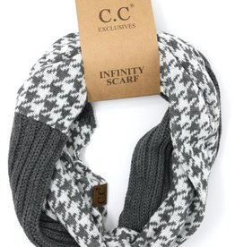 Knitted Infinity Scarf Houndstooth